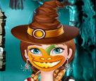Anna Cadılar Bayramı Yüz Boyama