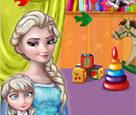 Elsa ve Bebeği Boyama