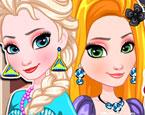 Elsa ve Rapunzel Makyaj