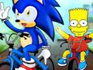 Sonic vs Simpson Motor Yarışı
