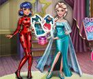 Uğurböceği ve Elsa Giydir